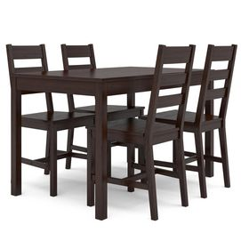 CorLiving™ DTC-894-T Cappuccino Stained Kitchen Set with 4 Chairs - Sears $408.99
