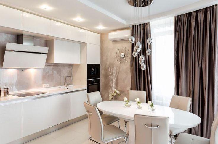 Современная белая кухня #ИнтерьерДекор_Кухня