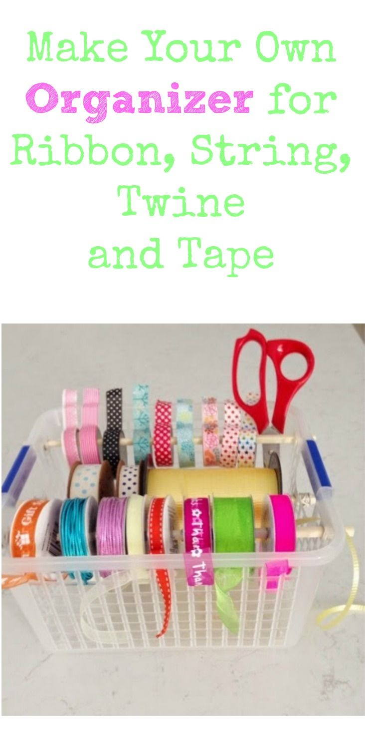 DIY Organizer for Ribbon, String, Twine and Tape