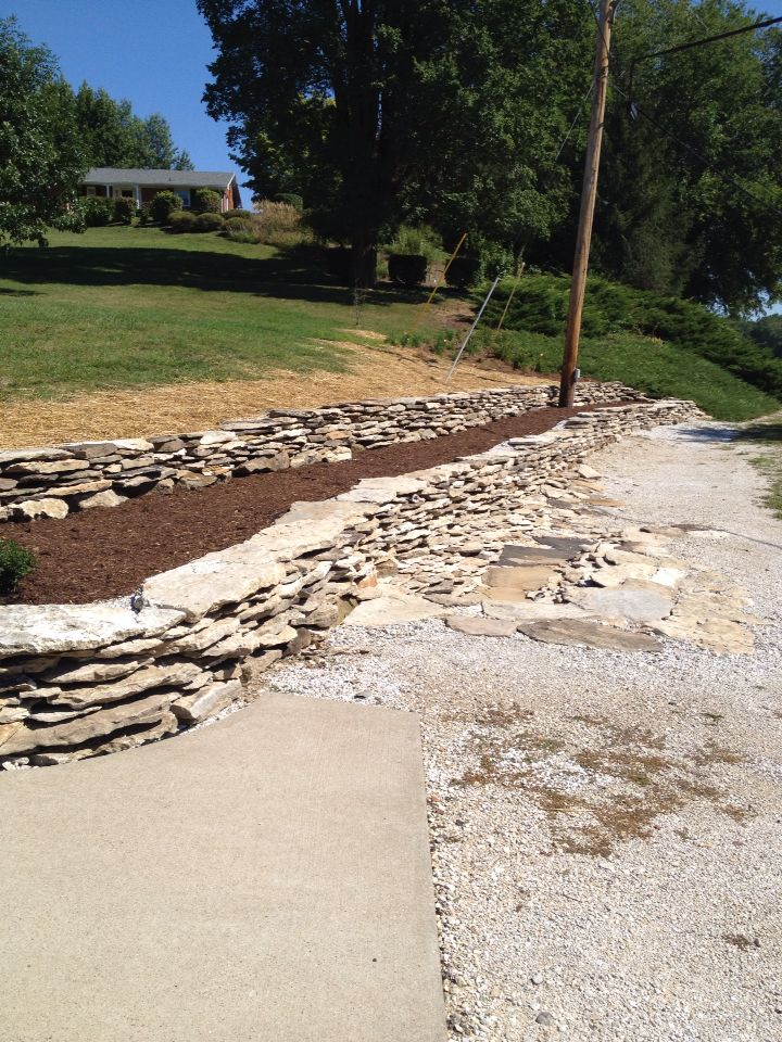 28 best images about river rock landscaping on pinterest for River rock wall