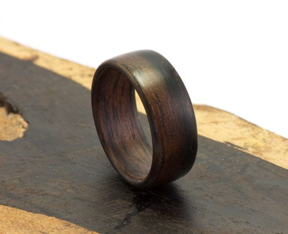A single piece of ebony, bent around itself, is what this simple yet elegant bentwood ring $75.00
