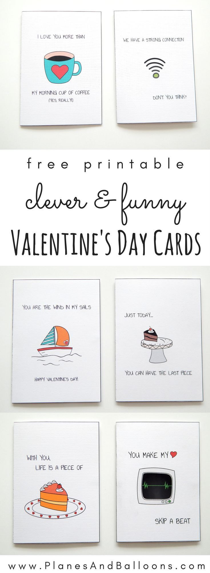 Free printable Valentine's day cards that are funny and clever. I am defintiely going to use them this year!