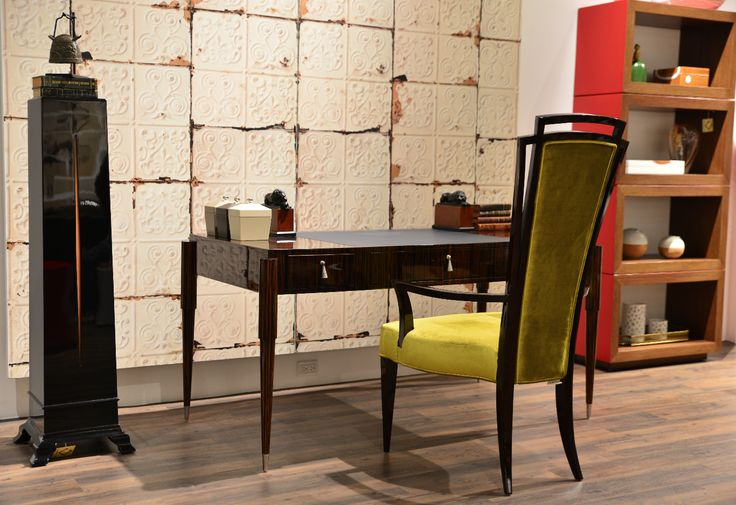 Emile Desk, Pre Madonna Chair & Riviera Pedestal made in Ecuador By La Galeria. Available exclusively at Sarsfield Brooke Ltd.