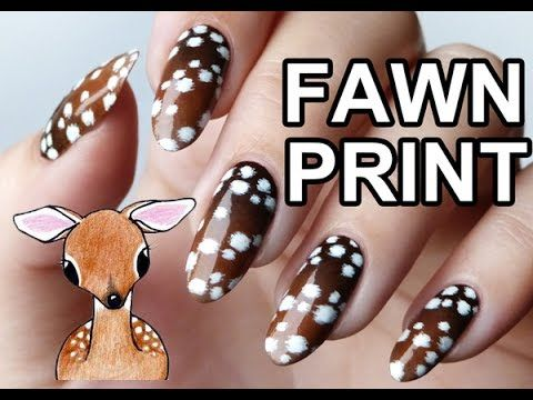 Paint All The Nails Presents Animal Print - Fawn Print Nail Art & TUTORIAL - Lucy's Stash