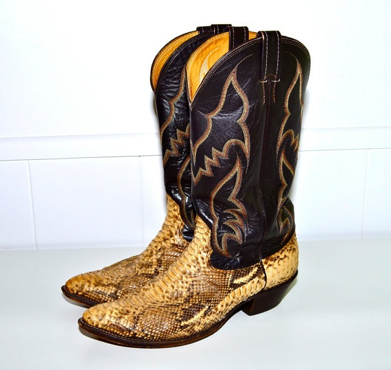 Make an Offer NOCONA Snakeskin Leather COWBOY BOOTS Incredible