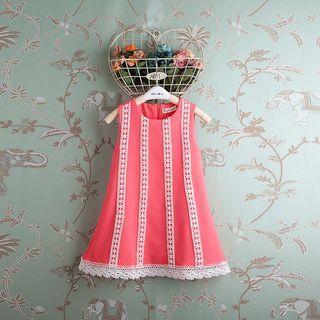 Kidora Kids Crochet Trim Sleeveless Dress Watermelon Red