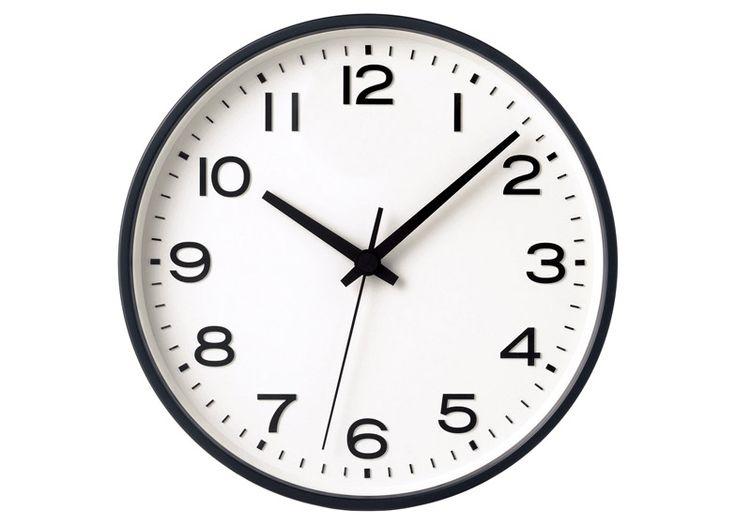 Minimally designed clock designed by Naoto Fukasawa for Muji.