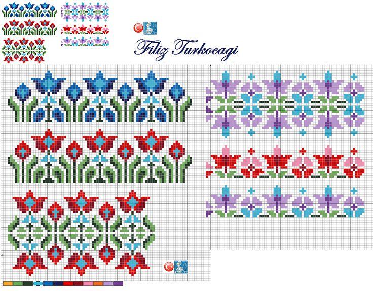 Bunları da peçetelik deseninden, sizler için bordür olarak tasarladım :)) Hangisini isterseniz...Designed by Filiz Türkocağı...