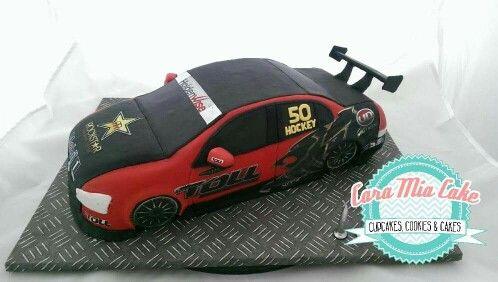 Salted caramel holden racing car cake #car #carcake #birthdaycake #holden #holdenracing #cupcakes #cakeart
