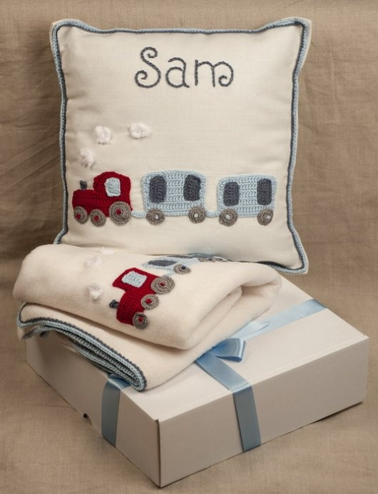 Beautiful, handmade nursery set. Perfect gift for a newborn baby boy.
