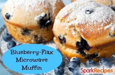 Blueberry Flax Microwave Muffin Recipe