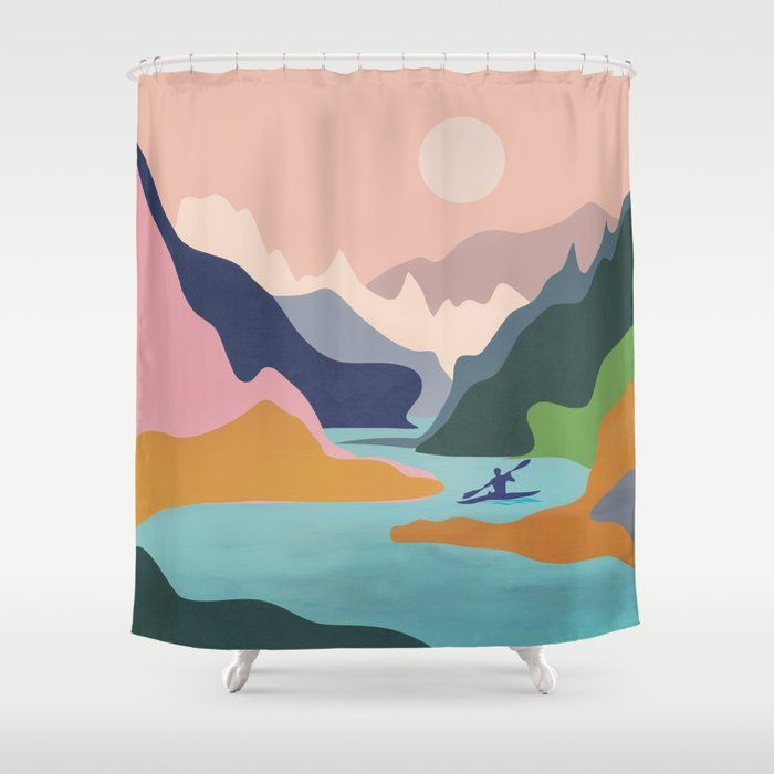Stop Neglecting Bathroom Decor This Shower Curtain Bring A Fresh New Feel To An Overlooked Space Hookless And Extra