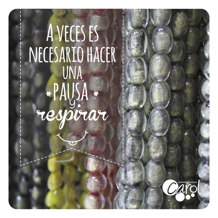 #DIY #HazloTuMismo Haz una pausa, respira y luego sigue adelante con esa felicidad y alegría que te caracteriza!!! Feliz día para tod@s!!!