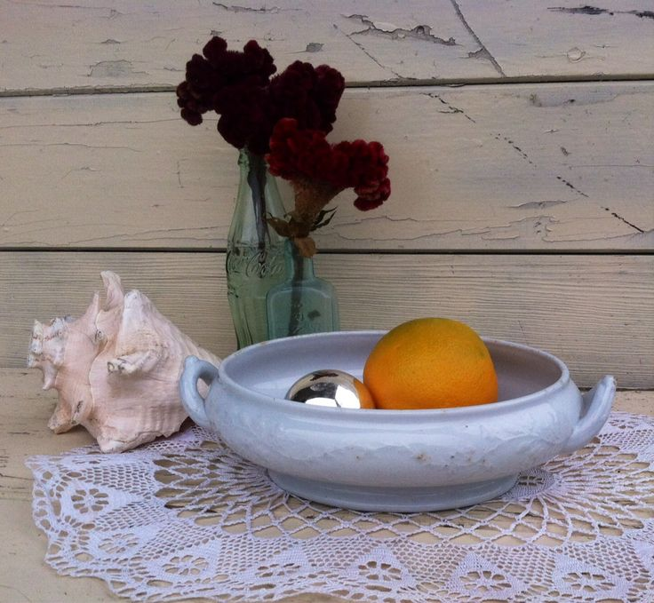1800's Antique Victorian Meakin Ironstone Serving Dish - Vintage White Decorative Bowl, Wedding Decor, Centerpiece by happydayantiques on Etsy