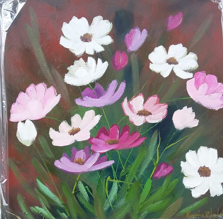 40 cm x 40 cm x 35 mm Sealed Oils on Stretched Canvas Panel...R 350