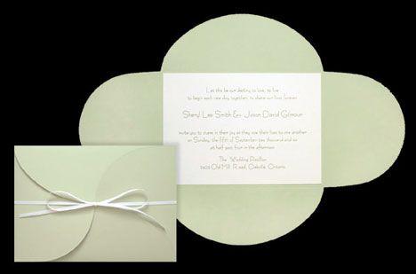 Canvas paper, DIY wedding invitation pocket/folder
