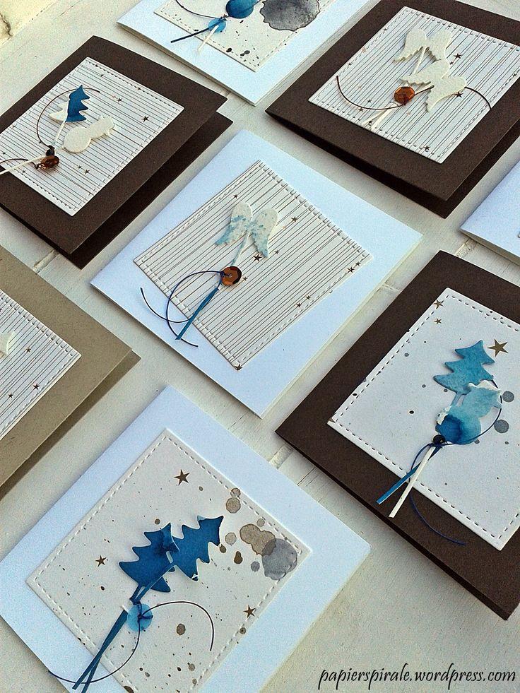 Weihnachtskärtchen mit Stanzen und Papier von Alexandra Renke