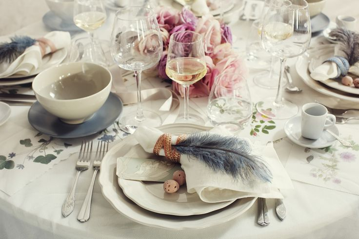 Tablescape: Table Settings, Tablesettings, Wedding Inspiration, Place Settings, Wedding Ideas, Weddings, Feathers, Tablescape