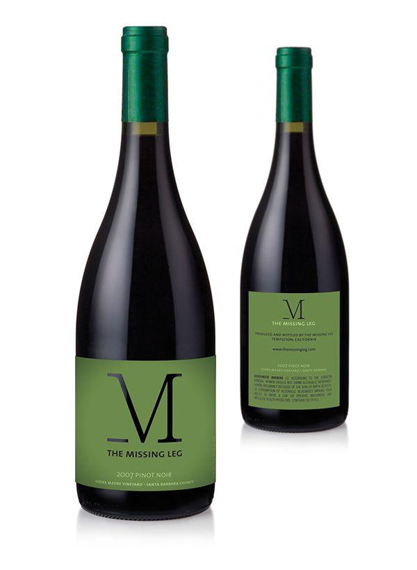 The Missing Leg Wine Label on Behance