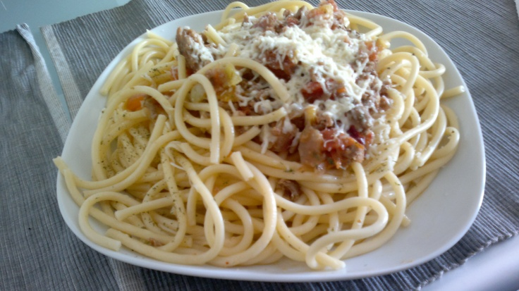 Buccatini Bolognese