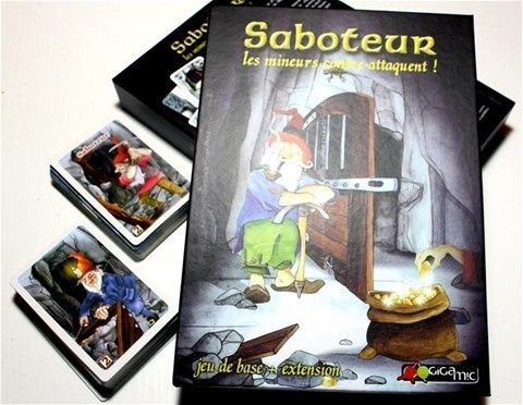 Saboteur version 1 plus 2 - Family Board / Card Game