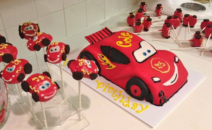 Cars cake and cake pops