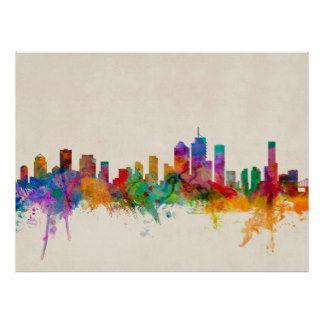 Brisbane Australia Skyline Cityscape Posters