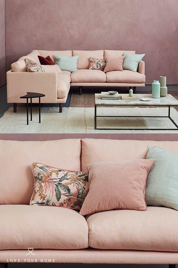 Modern Sofa Ottilie Corner Pink Living Room Corner Sofa Living Room Pink Living Room Decor