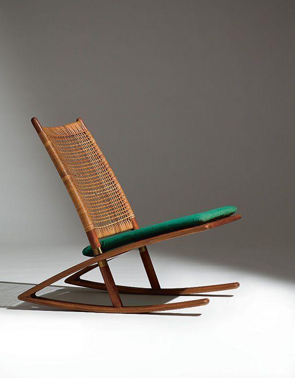 fredrik kayser / modell 599 gyngestol til vatne møbler