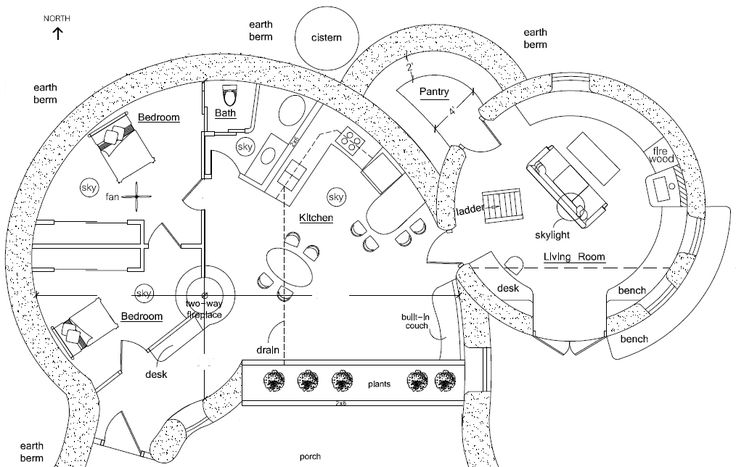 Earthship Home Floor Plans: Spiral, Earthship And House