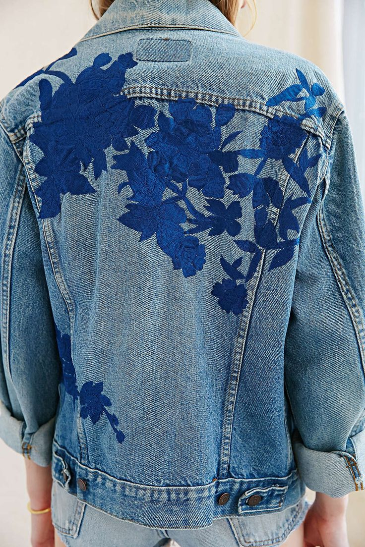 Urban Renewal Recycled Embroidered Denim Jacket - Urban Outfitters