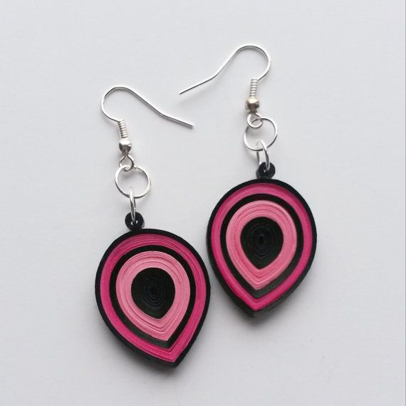 Quilled Earrings, Eco-Friendly, Quilling Jewelry, Paper Earrings, Paper Jewelry, Handmade Jewelry