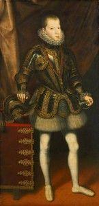 Infante Felipe en un arnés Juan Pantoja de la Cruz (Kunsthistorisches Museum Wien)