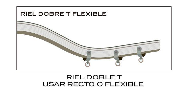 RIEL DOBLE T FLEIXIBLE