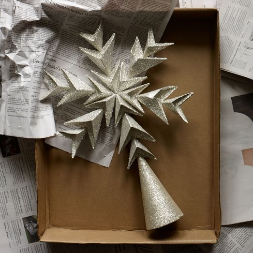 Glitter Tree Topper West Elm Christmas Style