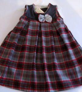 Sukienka świąteczna w kratkę, góra grafitowa http://dzieciociuszek.pl/products/32784