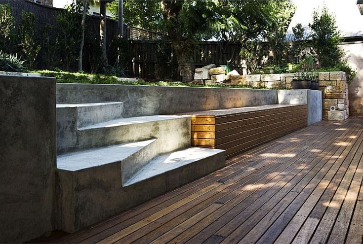 desire to inspire - desiretoinspire.net - Now you see it now youdon't: Gardens Ideas, Backyard Ideas, Yard Landscape, Outdoor Living, Concrete Step, Wooden Decks, Outdoor Spaces, Outdoor Stairs, Backyard Destinations