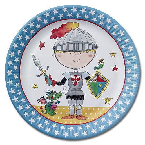 Brave Young Knight Party Plates