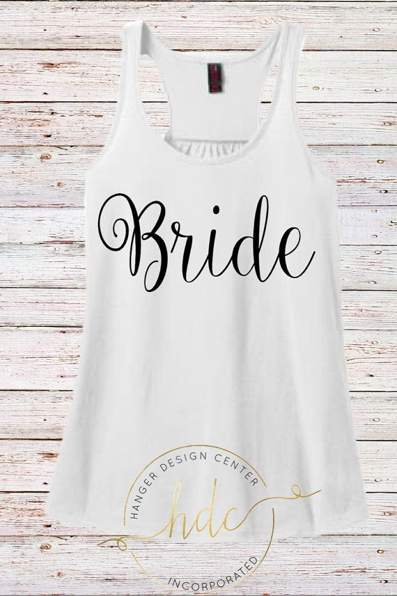 bride tank top  honeymoon tank top wedding by HangerDesignCenter