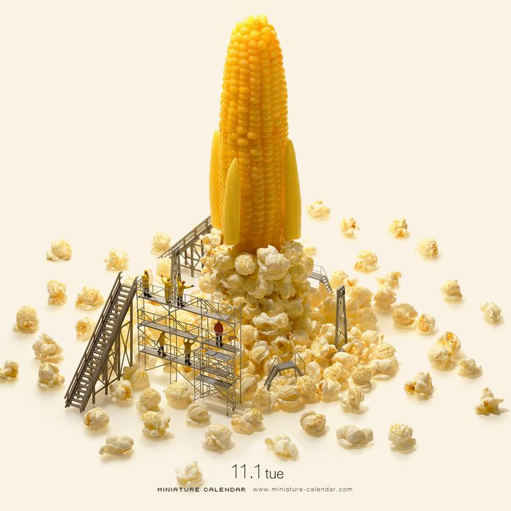 Corn rocket / Miniature art by Tanaka Tatsuya