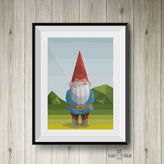 #1 illustration of the series characters in our childhood. David the GNOME the endearing character who taught us so many things.    -DETAILS of print