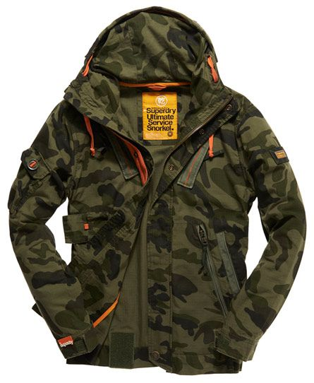 Mens - Ultimate Service Jacket in Green Ops Camo | Superdry