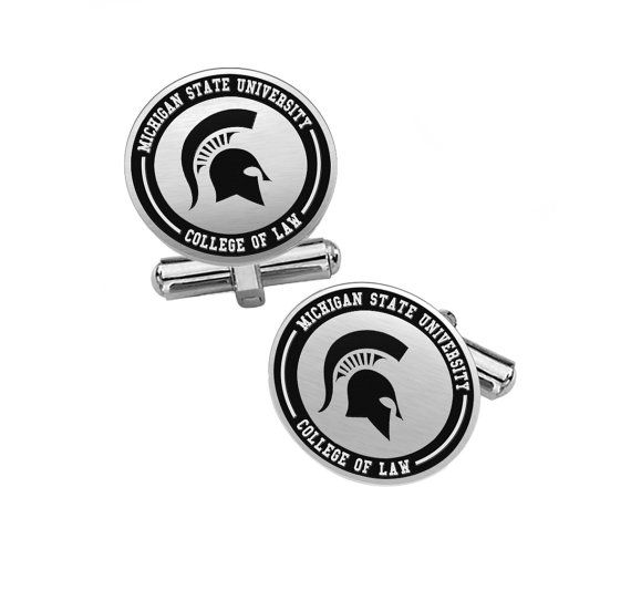 Michigan State University College of Law Cufflinks |  Sterling Silver | College Cufflinks | Lapel Pins and Charms
