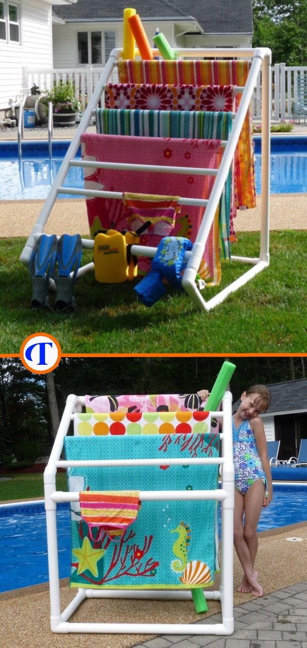 Your pool is your oasis. TowelMaid can help you keep it peaceful and organized. Store and dry your towels, suits, toys and gear neatly where you use them. Racks and DIY plans available. Use coupon code: AutismLoves for free shipping on all racks through April 30,2015.