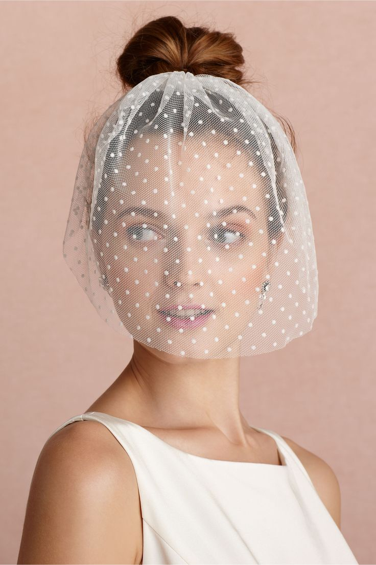 Dotted Voile Veil from BHLDN