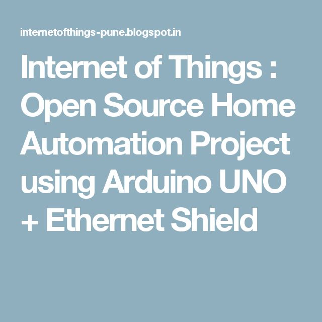 Internet based home automation system project