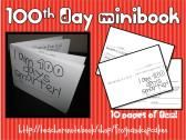 100th Day of School Minibook product from frogsandcupcakes on TeachersNotebook.com