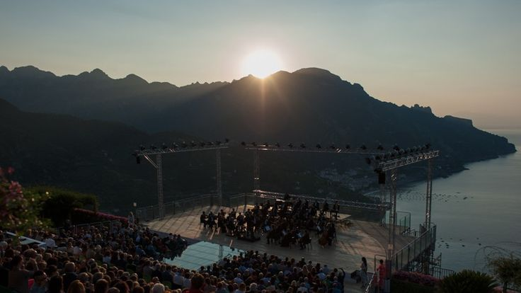 Sunrise from Ravello Festival Concert Amalfi Coast