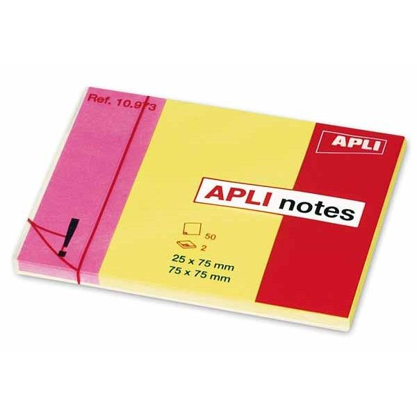 Comprar Bloc de 50 h Notas Adhesivas duo Apli 10973  #oficina #tienda #notas #indices #adhesivas #colores #rollo #bloc #taco