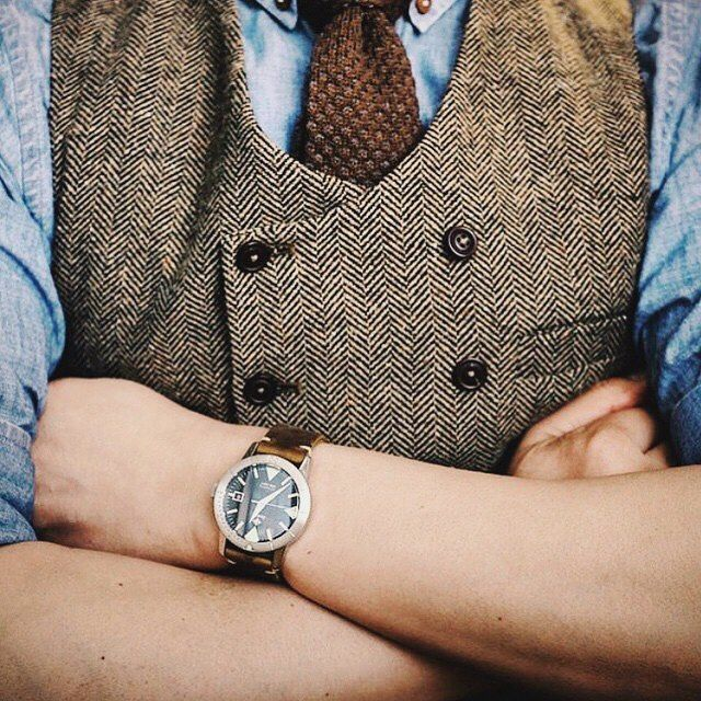 """Solid value: The Zodiac Super Sea Wolf 53 and """"Striker"""" brown handmade leather #watch strap by Bas and Lokes Handmade Leather Goods Photo credit: @basandlokes and @j0nathanp77"""